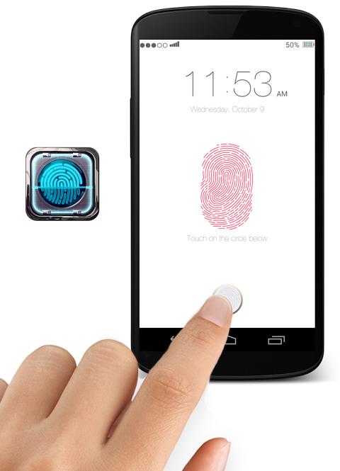 Как сделать на андроиде отпечаток пальца