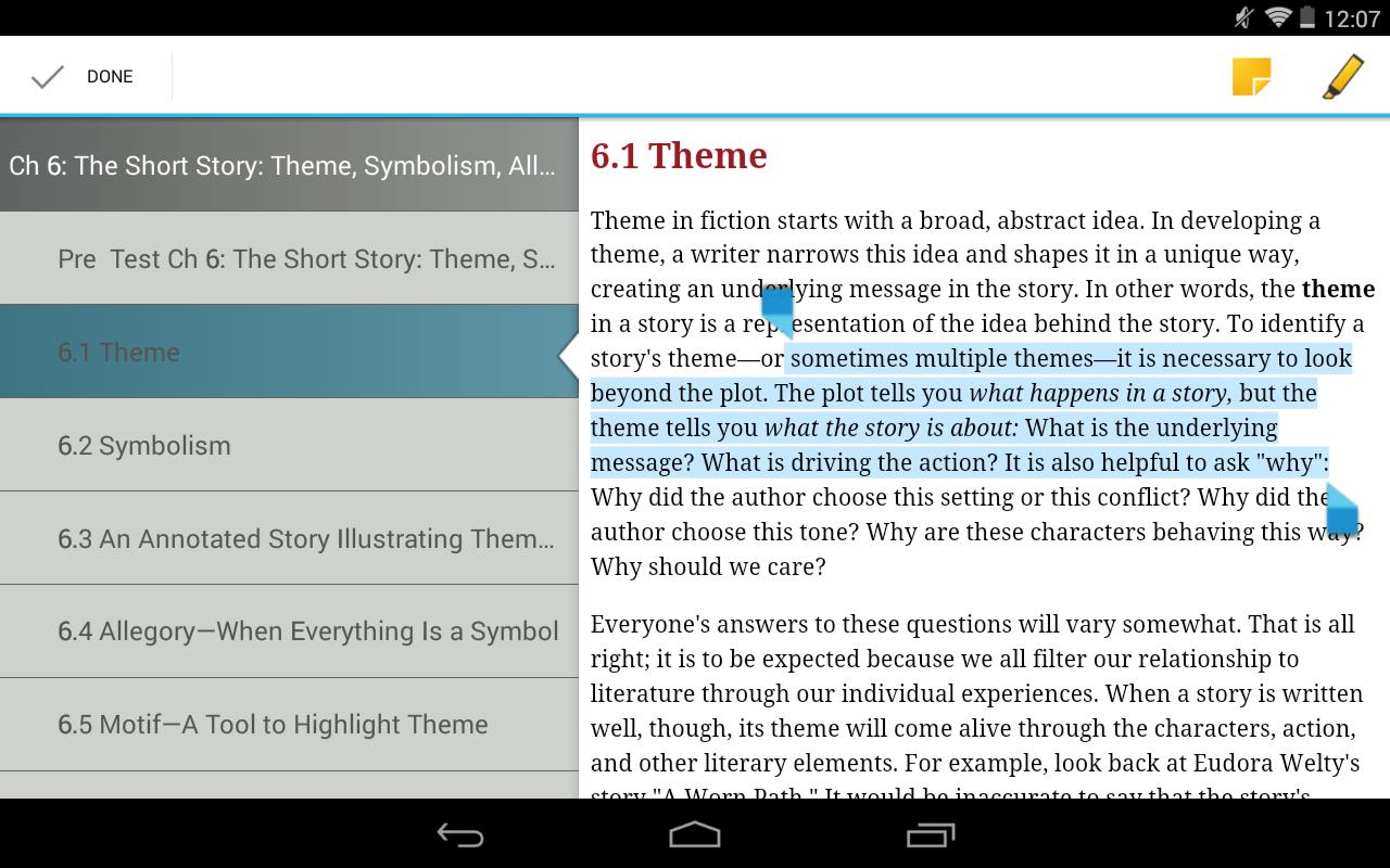 symbolism through the short story the